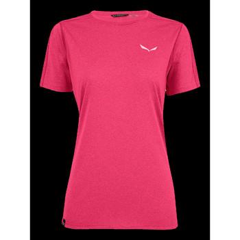 tekstylia Damskie T-shirty z krótkim rękawem Salewa T-shirt  Pedroc 3 DRY W S/S TEE 27726-6385 różowy