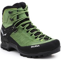 Buty Męskie Trekking Salewa Buty trekkingowe  MS MTN Trainer MID GTX 63458-5949 czarny, zielony