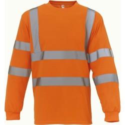 tekstylia T-shirty z długim rękawem Yoko T-Shirt manches longues  Haute Visibilité orange