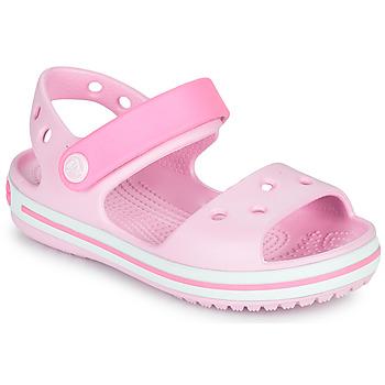 Buty Dziewczynka Sandały Crocs CROCBAND SANDAL KIDS Różowy