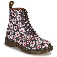 Buty Damskie Buty za kostkę Dr Martens 1460 PASCAL Czarny / Biały / Czerwony