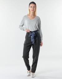 tekstylia Damskie Spodnie z lejącej tkaniny / Alladynki Desigual CHARLOTTE Czarny