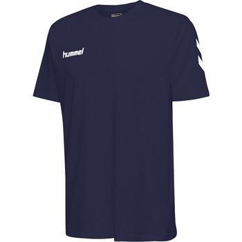 tekstylia Dziecko T-shirty z krótkim rękawem Hummel T-shirt enfant  hmlGO cotton bleu marine