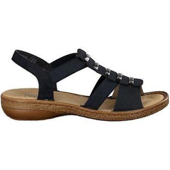 Buty Damskie Sandały Rieker Pazifik Niebieskie Sandały Blue