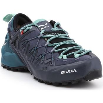 Buty Damskie Trekking Salewa Buty trekkingowe  WS Wildfire Edge GTX 61376-3838 granatowy, czarny, zielony