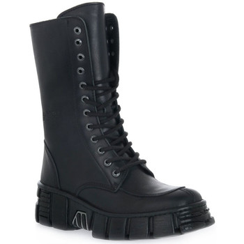 Buty Damskie Botki New Rock WALL ITALI NERO TOWER Nero