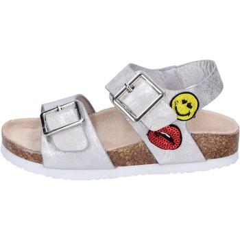 Buty Dziewczynka Sandały Smiley Sandały BK509 Srebrny