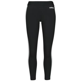 tekstylia Damskie Legginsy adidas Originals W E 3S TIGHT Czarny / Biały