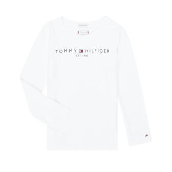tekstylia Dziewczynka T-shirty z długim rękawem Tommy Hilfiger KG0KG05247-YBR-C Biały