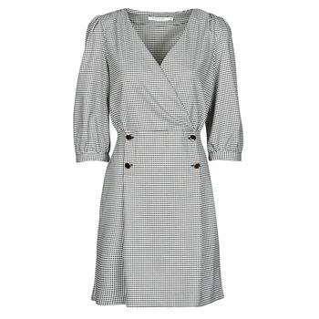 tekstylia Damskie Sukienki krótkie Naf Naf  Czarny / Biały