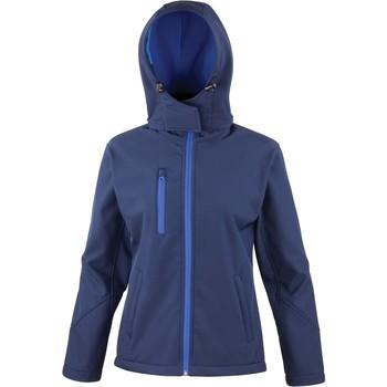 tekstylia Damskie Bluzy dresowe Result Veste  Softshell Capuche Femme Tx Performance bleu marine/bleu royal