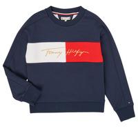 tekstylia Dziewczynka Bluzy Tommy Hilfiger KG0KG05497-C87-J Marine