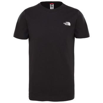 tekstylia Chłopiec T-shirty z krótkim rękawem The North Face SIMPLE DOME TEE Czarny