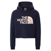 tekstylia Dziewczynka Bluzy The North Face DREW PEAK CROPPED HOODIE Marine