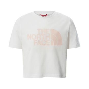 tekstylia Dziewczynka T-shirty z krótkim rękawem The North Face EASY CROPPED TEE Biały