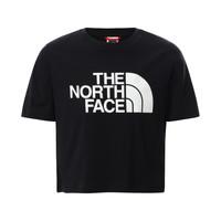 tekstylia Dziewczynka T-shirty z krótkim rękawem The North Face EASY CROPPED TEE Czarny