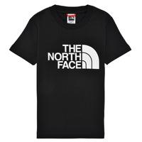 tekstylia Chłopiec T-shirty z krótkim rękawem The North Face EASY TEE Czarny