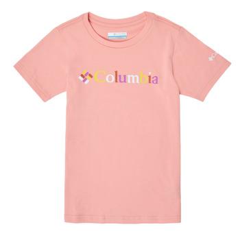 tekstylia Dziewczynka T-shirty z krótkim rękawem Columbia SWEET PINES GRAPHIC Różowy