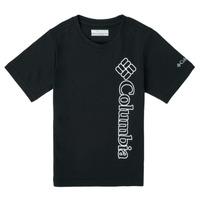 tekstylia Chłopiec T-shirty z krótkim rękawem Columbia HAPPY HILLS GRAPHIC Czarny