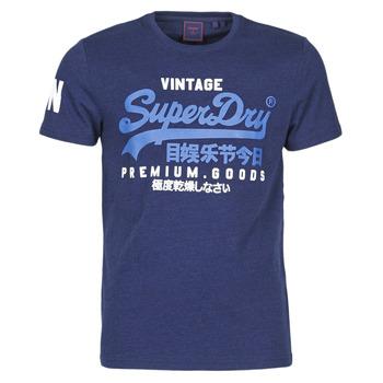tekstylia Męskie T-shirty z krótkim rękawem Superdry VL NS TEE Niebieski