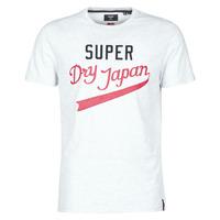 tekstylia Męskie T-shirty z krótkim rękawem Superdry COLLEGIATE GRAPHIC TEE 185 Szary