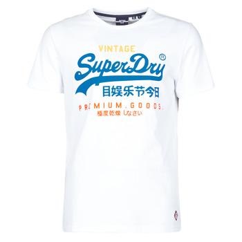 tekstylia Męskie T-shirty z krótkim rękawem Superdry VL TRI TEE 220 Biały