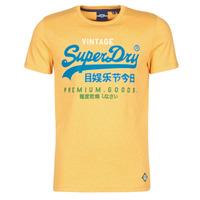 tekstylia Męskie T-shirty z krótkim rękawem Superdry VL TRI TEE 220 Żółty