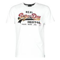 tekstylia Męskie T-shirty z krótkim rękawem Superdry VL ITAGO TEE 220 Biały