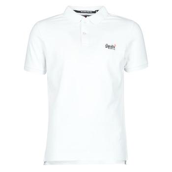 tekstylia Męskie T-shirty z krótkim rękawem Superdry CLASSIC PIQUE S/S POLO Biały