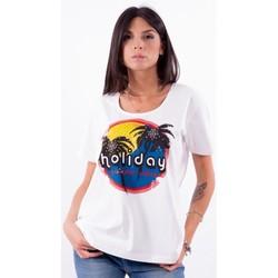tekstylia Damskie T-shirty z krótkim rękawem Persona By Marina Rinaldi VALUTA Biały