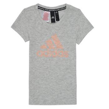 tekstylia Dziewczynka T-shirty z krótkim rękawem adidas Performance JG A MHE TEE Biały