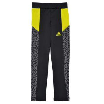 tekstylia Dziewczynka Legginsy adidas Performance G LEO TIG Czarny