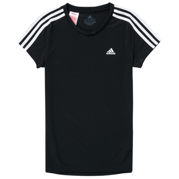 tekstylia Dziewczynka T-shirty z krótkim rękawem adidas Performance G 3S T Czarny