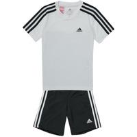 tekstylia Chłopiec Zestawy dresowe adidas Performance B 3S T SET Biały / Czarny