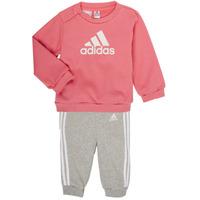 tekstylia Dziewczynka Komplet adidas Performance BOS JOG FT Różowy