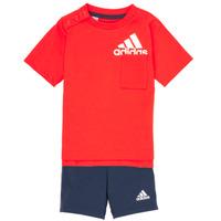tekstylia Chłopiec Komplet adidas Performance BOS SUM  SET Czerwony / Czarny