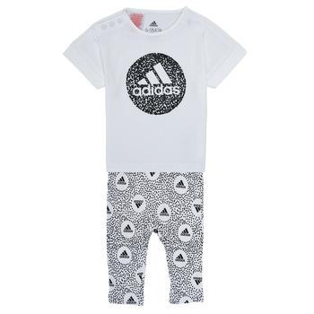 tekstylia Dziewczynka Komplet adidas Performance TIGHT SET Biały