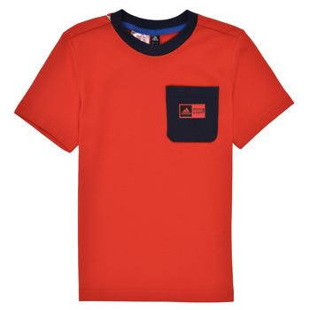 tekstylia Chłopiec Komplet adidas Performance LB DY SHA SUM Czerwony / Marine
