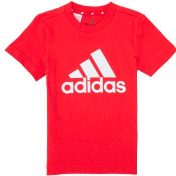 tekstylia Chłopiec T-shirty z krótkim rękawem adidas Performance B BL T Czerwony