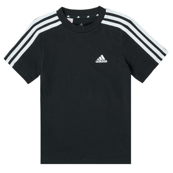 tekstylia Chłopiec T-shirty z krótkim rękawem adidas Performance B 3S T Czarny