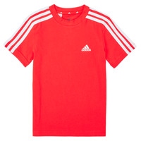 tekstylia Chłopiec T-shirty z krótkim rękawem adidas Performance B 3S T Czerwony