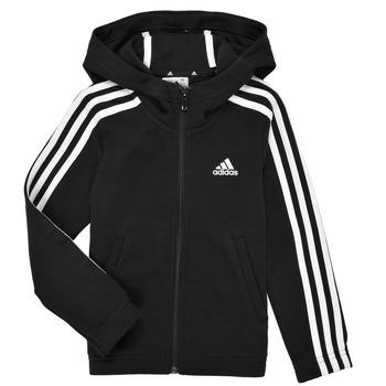 tekstylia Dziewczynka Bluzy adidas Performance G 3S FZ HD Czarny