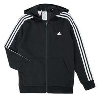 tekstylia Chłopiec Bluzy adidas Performance B 3S FZ HD Czarny
