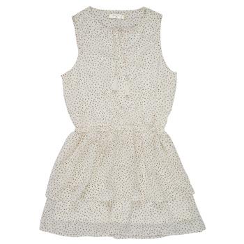 tekstylia Dziewczynka Sukienki krótkie Deeluxe JESTA Biały