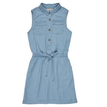 tekstylia Dziewczynka Sukienki krótkie Deeluxe LALI Niebieski