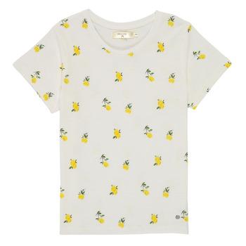tekstylia Dziewczynka T-shirty z krótkim rękawem Deeluxe NADY Biały