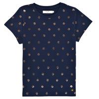 tekstylia Dziewczynka T-shirty z krótkim rękawem Deeluxe MAYA Marine