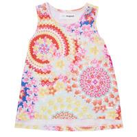 tekstylia Dziewczynka Topy na ramiączkach / T-shirty bez rękawów Desigual 21SGCW02-3146 Wielokolorowy
