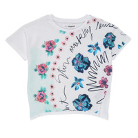tekstylia Dziewczynka T-shirty z krótkim rękawem Desigual 21SGTK02-1000 Biały