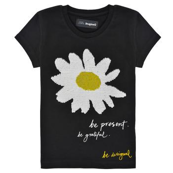 tekstylia Dziewczynka T-shirty z krótkim rękawem Desigual 21SGTK28-2000 Czarny